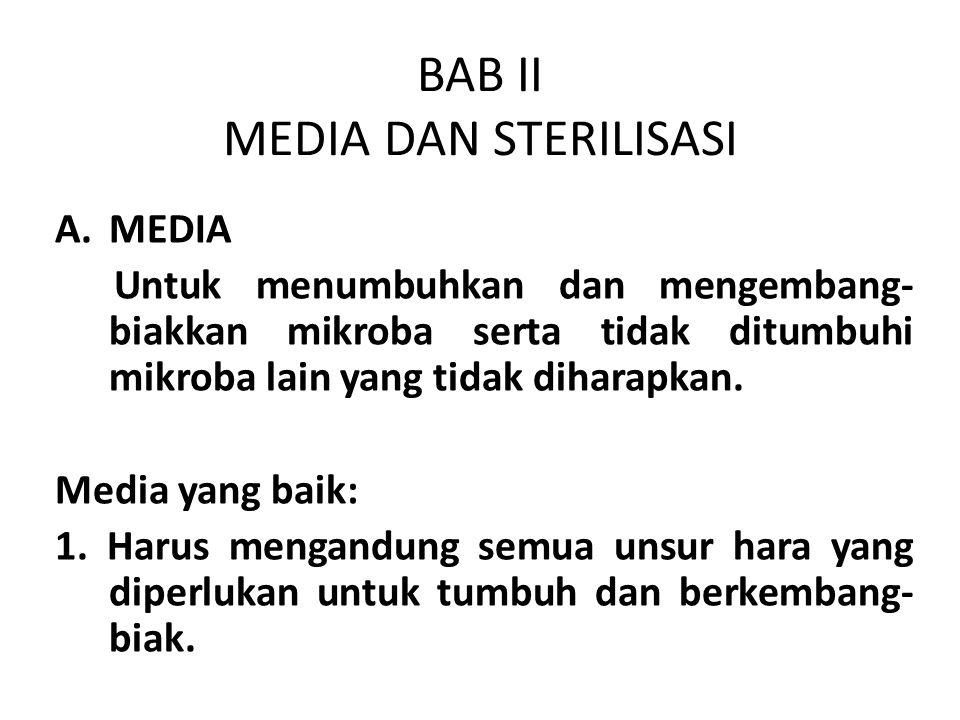 BAB II MEDIA DAN STERILISASI