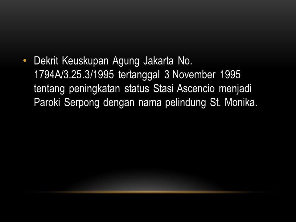 Dekrit Keuskupan Agung Jakarta No. 1794A/3. 25