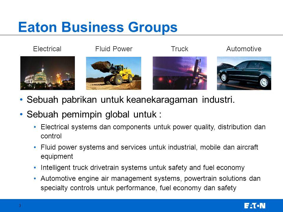 Eaton Business Groups Sebuah pabrikan untuk keanekaragaman industri.