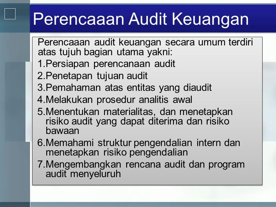 Perencaaan Audit Keuangan