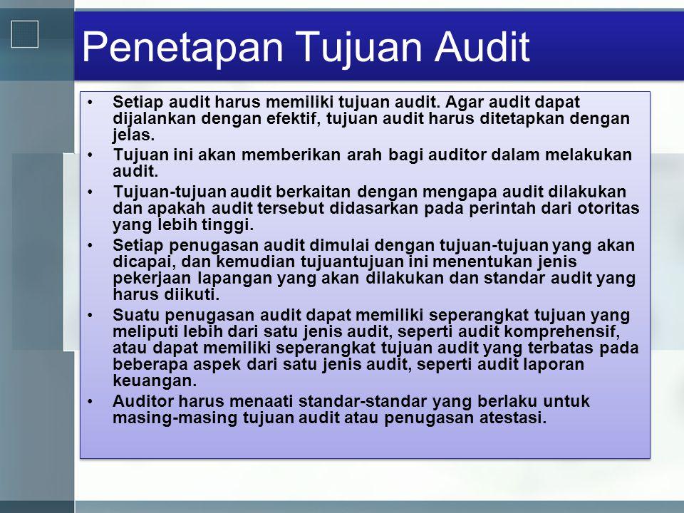 Penetapan Tujuan Audit