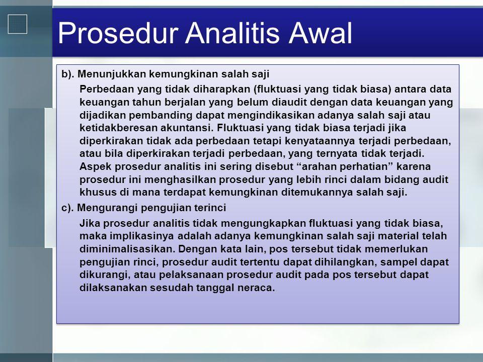 Prosedur Analitis Awal