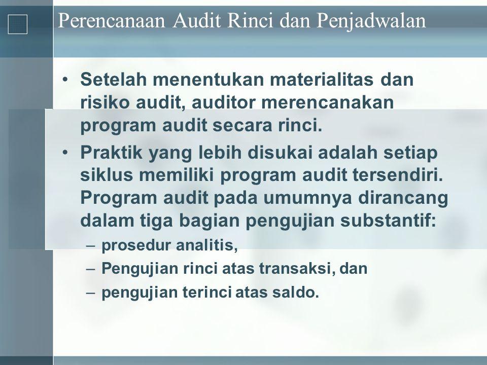Perencanaan Audit Rinci dan Penjadwalan