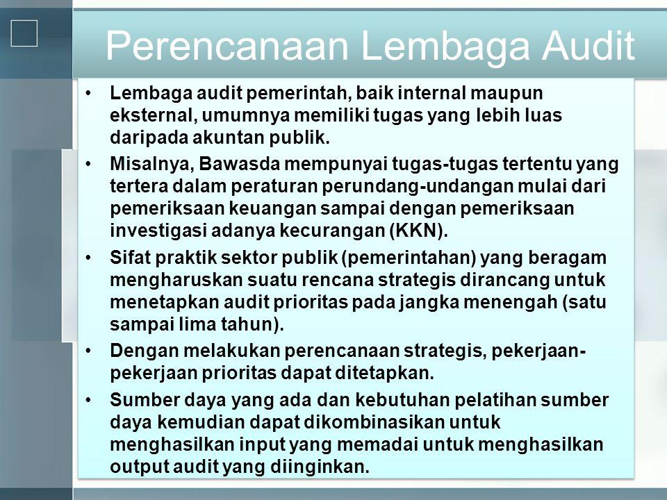 Perencanaan Lembaga Audit
