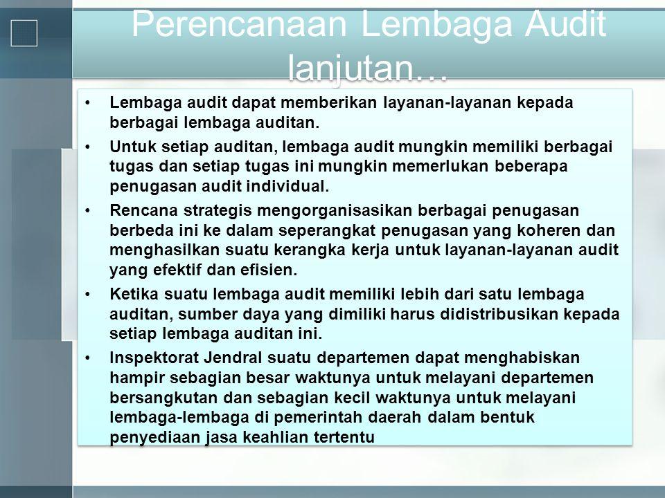 Perencanaan Lembaga Audit lanjutan…