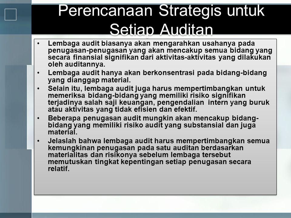 Perencanaan Strategis untuk Setiap Auditan