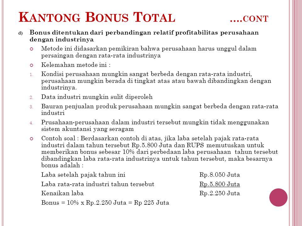 Kantong Bonus Total ….cont