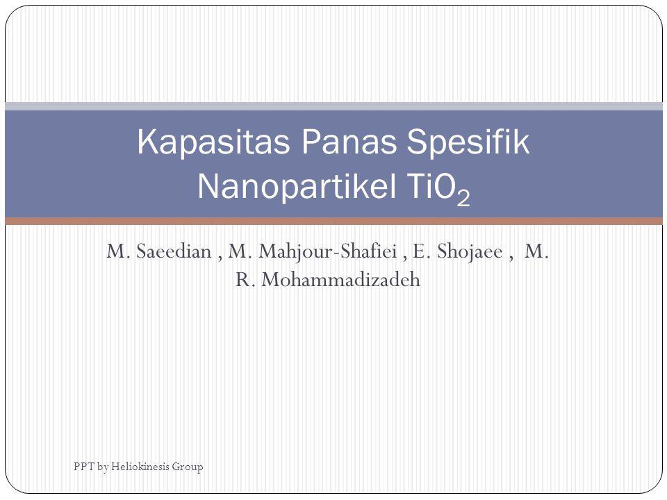 Kapasitas Panas Spesifik Nanopartikel TiO2
