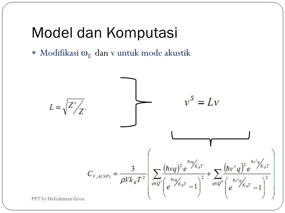 Model dan Komputasi Modifikasi ωE dan v untuk mode akustik