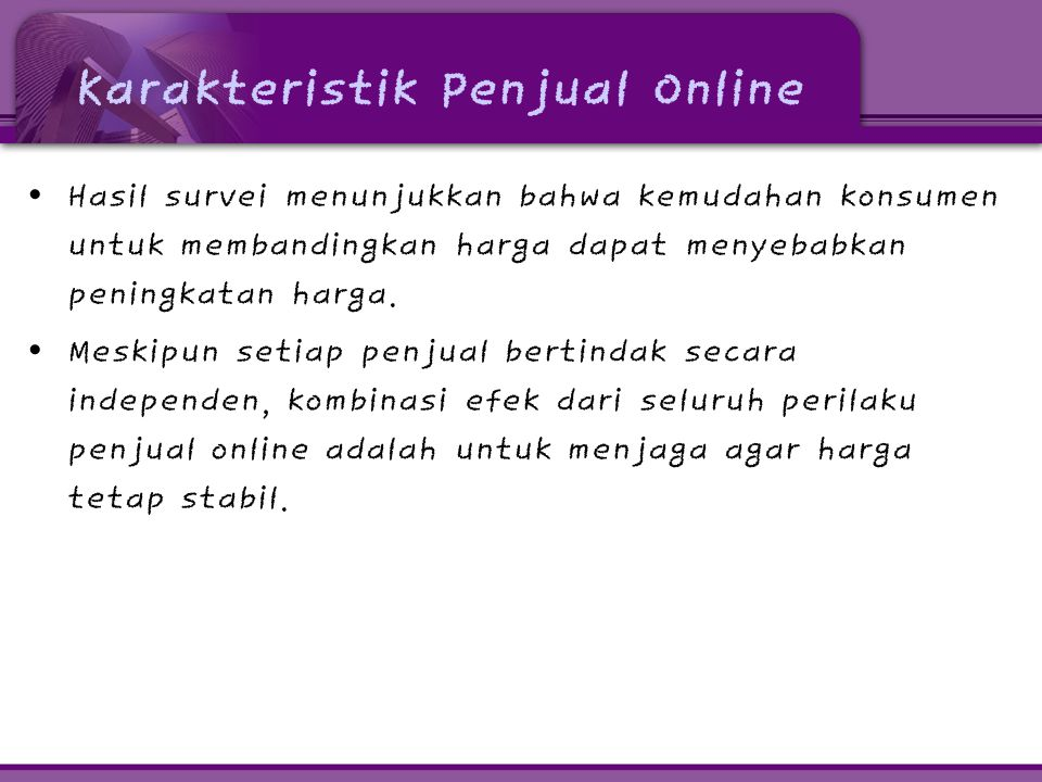 Karakteristik Penjual Online