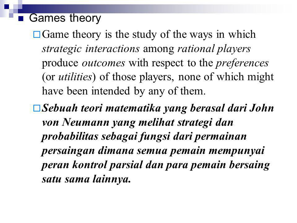 Games theory