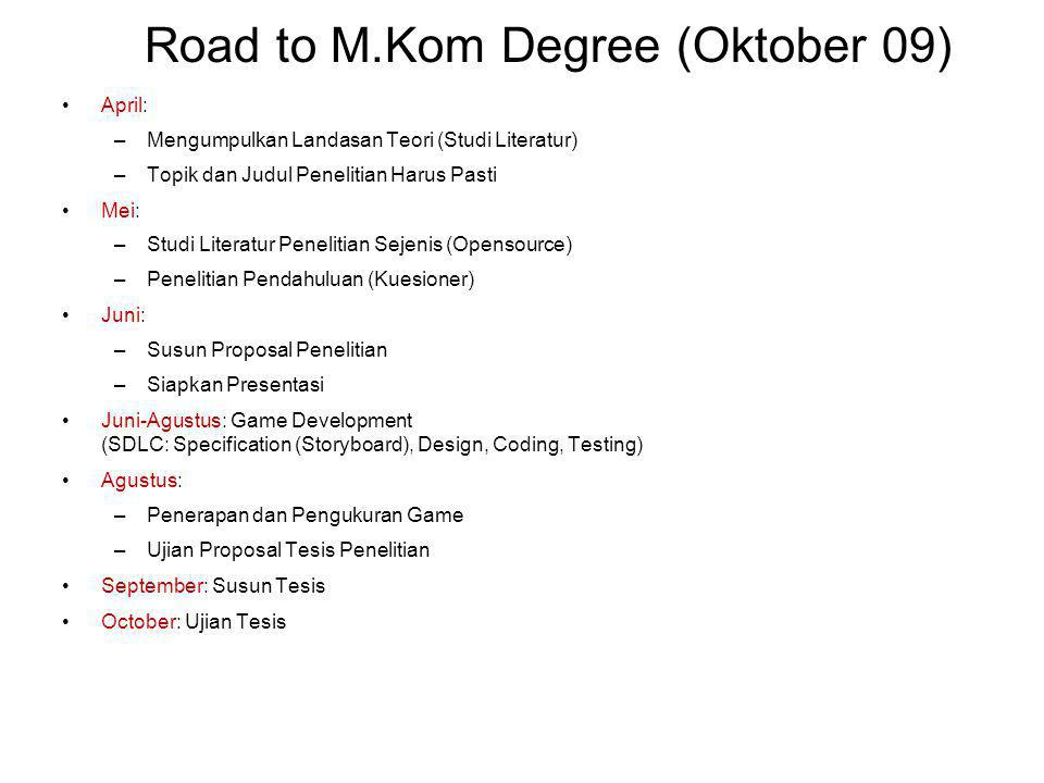 Road to M.Kom Degree (Oktober 09)