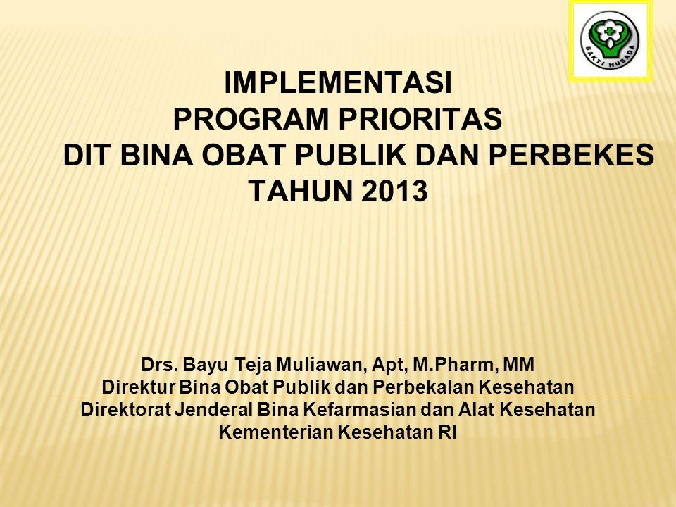 DIT BINA OBAT PUBLIK DAN PERBEKES TAHUN 2013