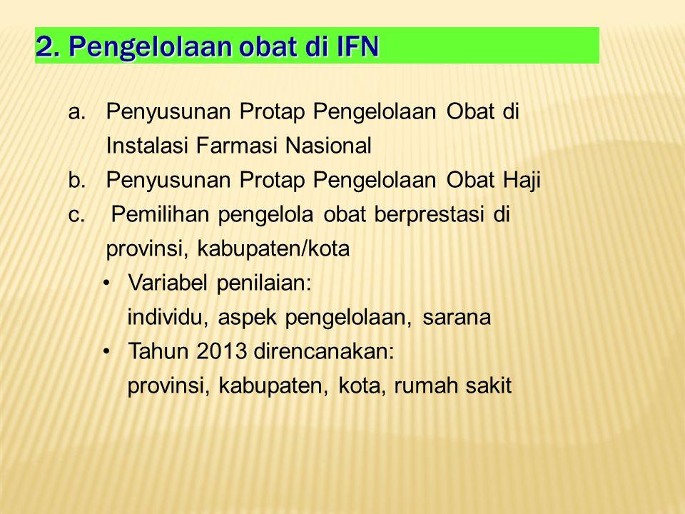 2. Pengelolaan obat di IFN