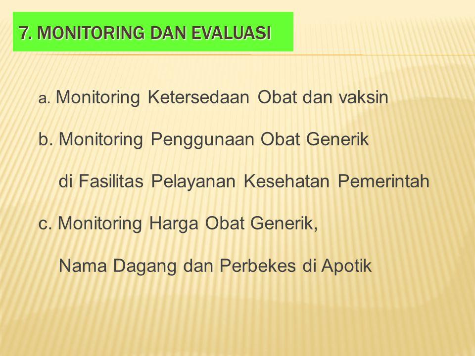 7. Monitoring dan evaluasi