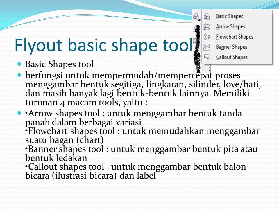 Flyout basic shape tool