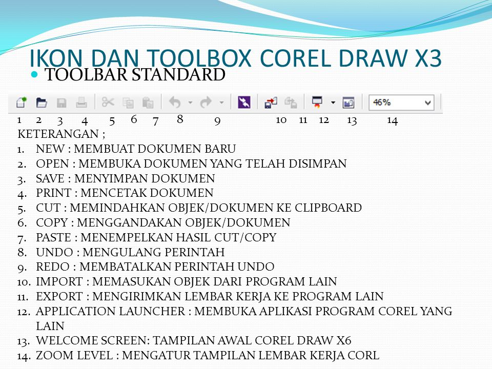 IKON DAN TOOLBOX COREL DRAW X3