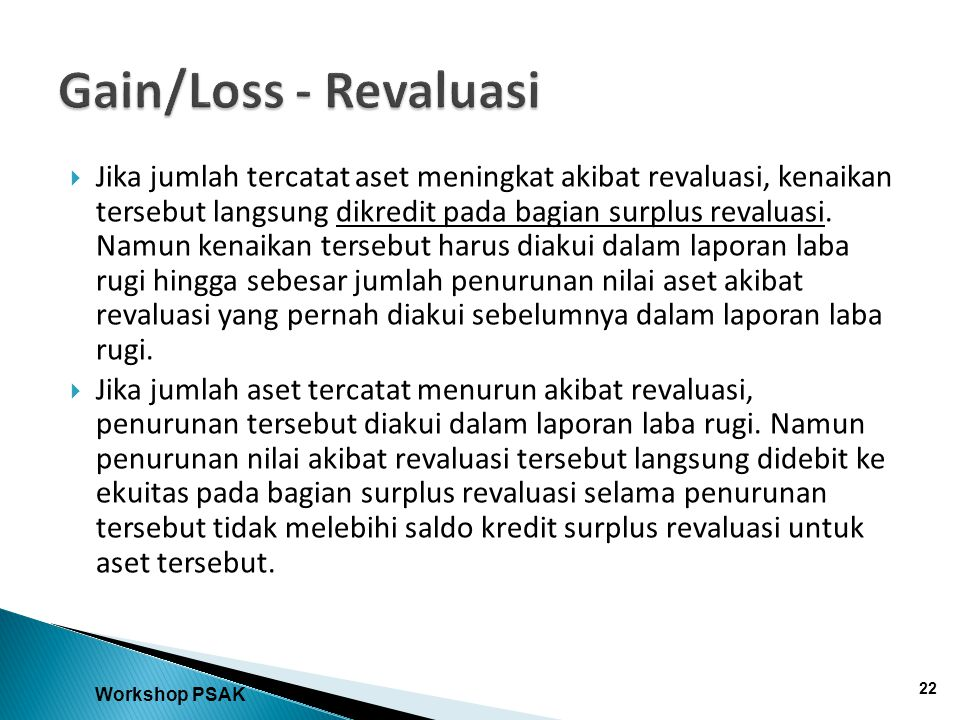 Gain/Loss - Revaluasi