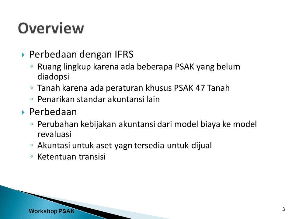 Overview Perbedaan dengan IFRS Perbedaan
