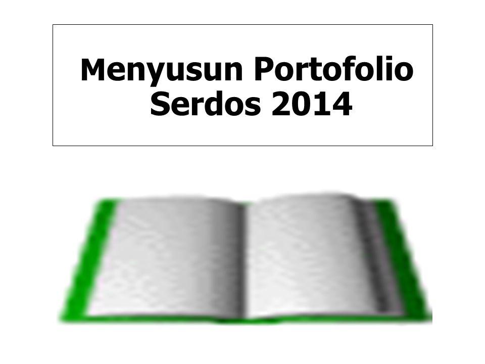 Menyusun Portofolio Serdos 2014