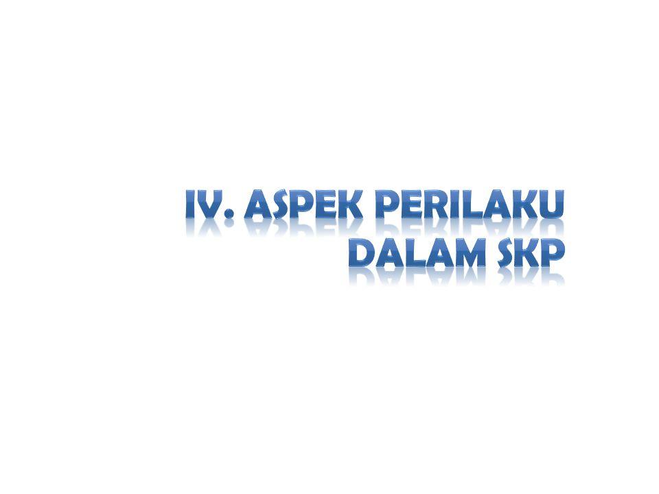 IV. ASPEK PERILAKU DALAM SKP