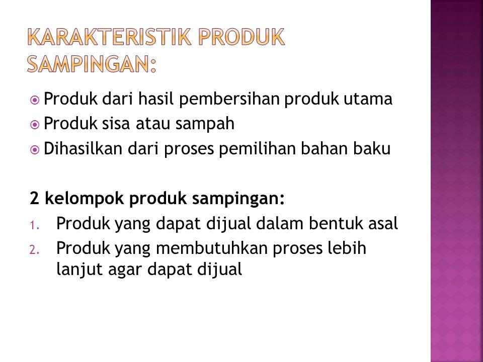Karakteristik produk sampingan: