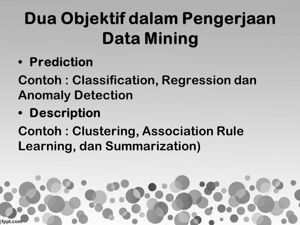 Dua Objektif dalam Pengerjaan Data Mining
