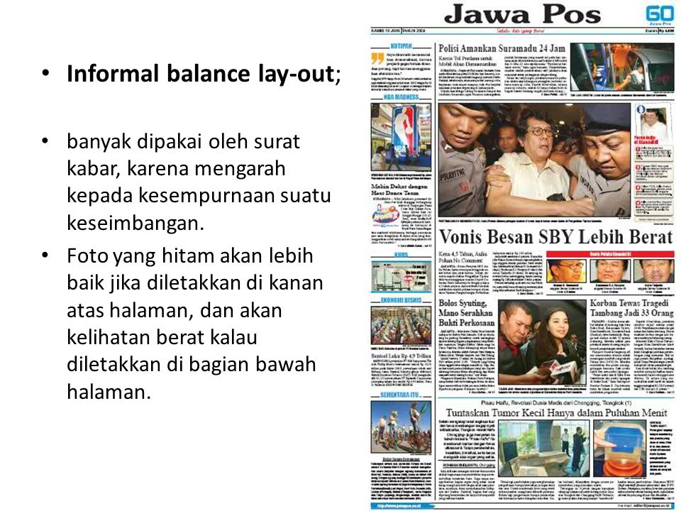 Informal balance lay-out;