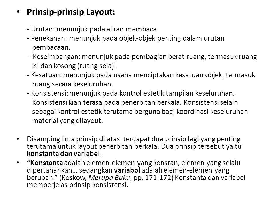 Prinsip-prinsip Layout: