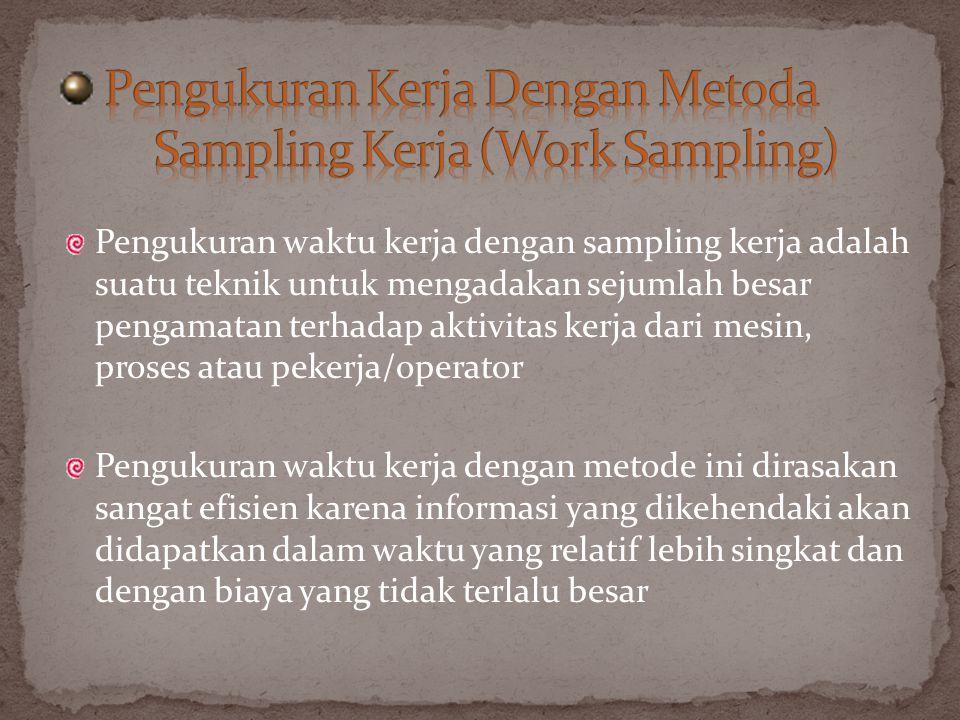 Pengukuran Kerja Dengan Metoda Sampling Kerja (Work Sampling)