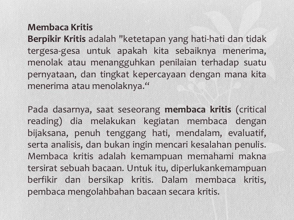 Membaca Kritis