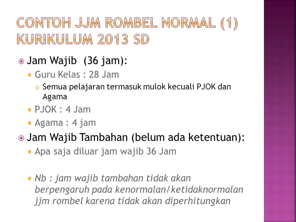 CONTOH JJM ROMBEL NORMAL (1) KURIKULUM 2013 SD