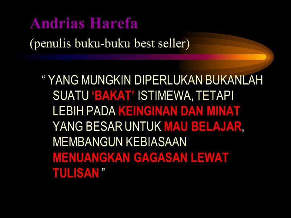 Andrias Harefa (penulis buku-buku best seller)
