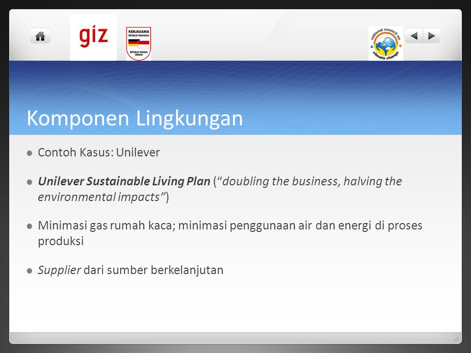 Komponen Lingkungan Contoh Kasus: Unilever