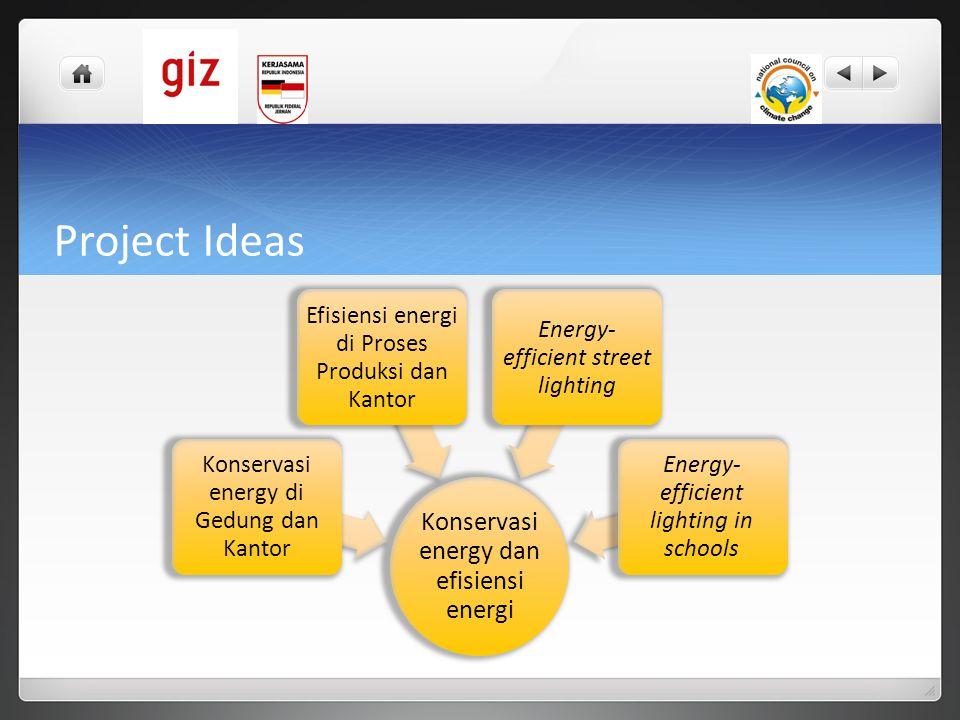 Project Ideas Konservasi energy dan efisiensi energi
