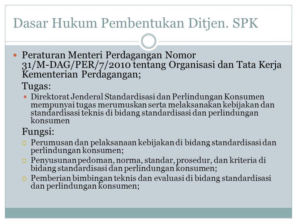 Dasar Hukum Pembentukan Ditjen. SPK