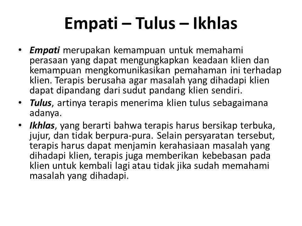 Empati – Tulus – Ikhlas