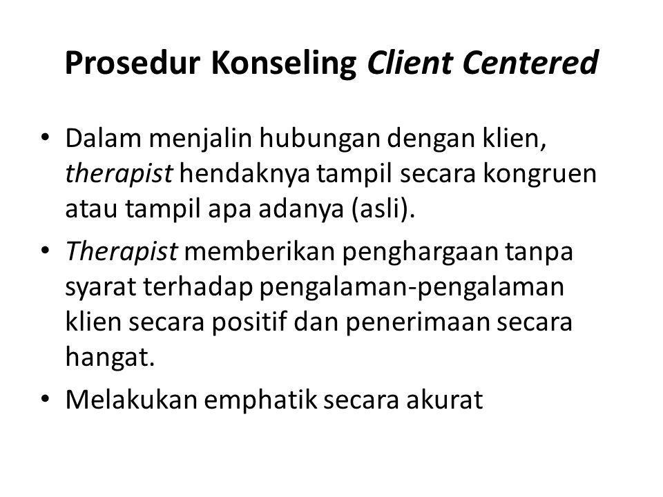 Prosedur Konseling Client Centered