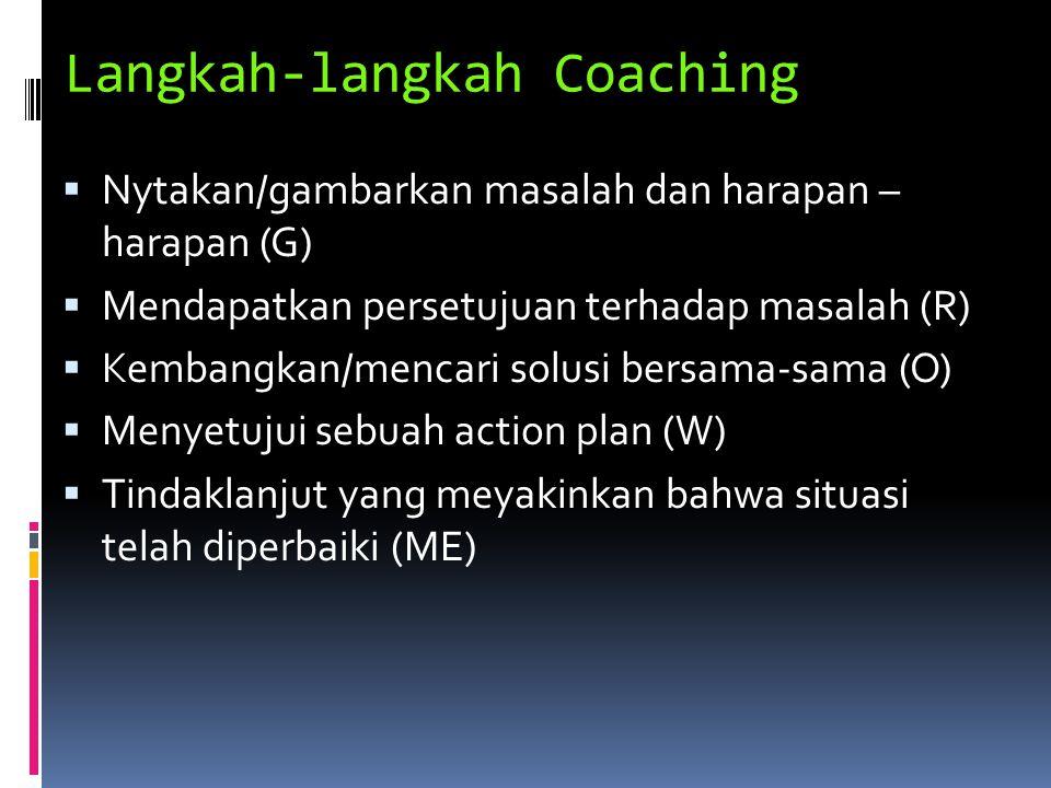 Langkah-langkah Coaching
