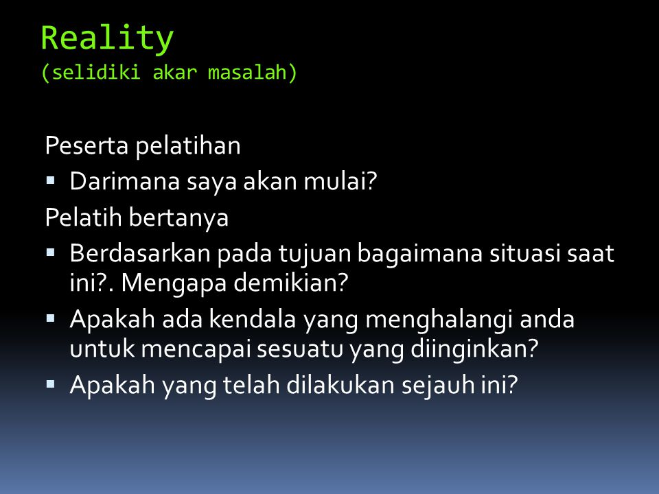 Reality (selidiki akar masalah)