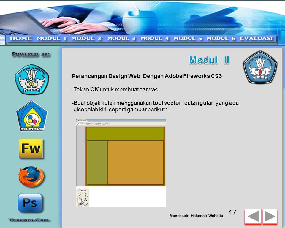 Modul II Perancangan Design Web Dengan Adobe Fireworks CS3