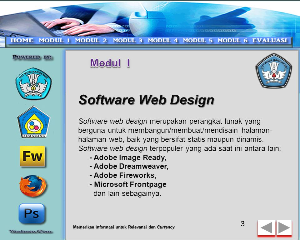 Software Web Design Modul I