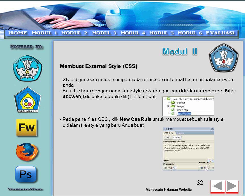 Modul II Membuat External Style (CSS)