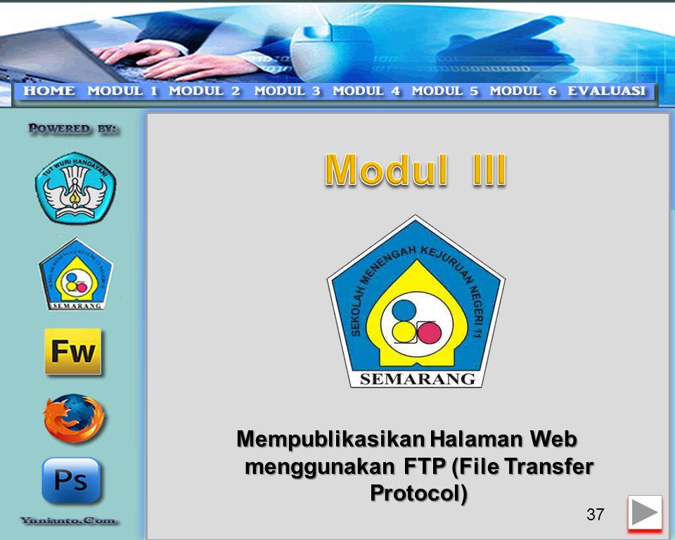 Mempublikasikan Halaman Web menggunakan FTP (File Transfer Protocol)