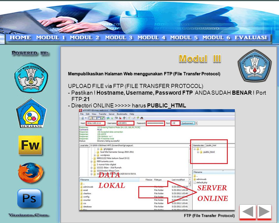 Modul III UPLOAD FILE via FTP (FILE TRANSFER PROTOCOL)