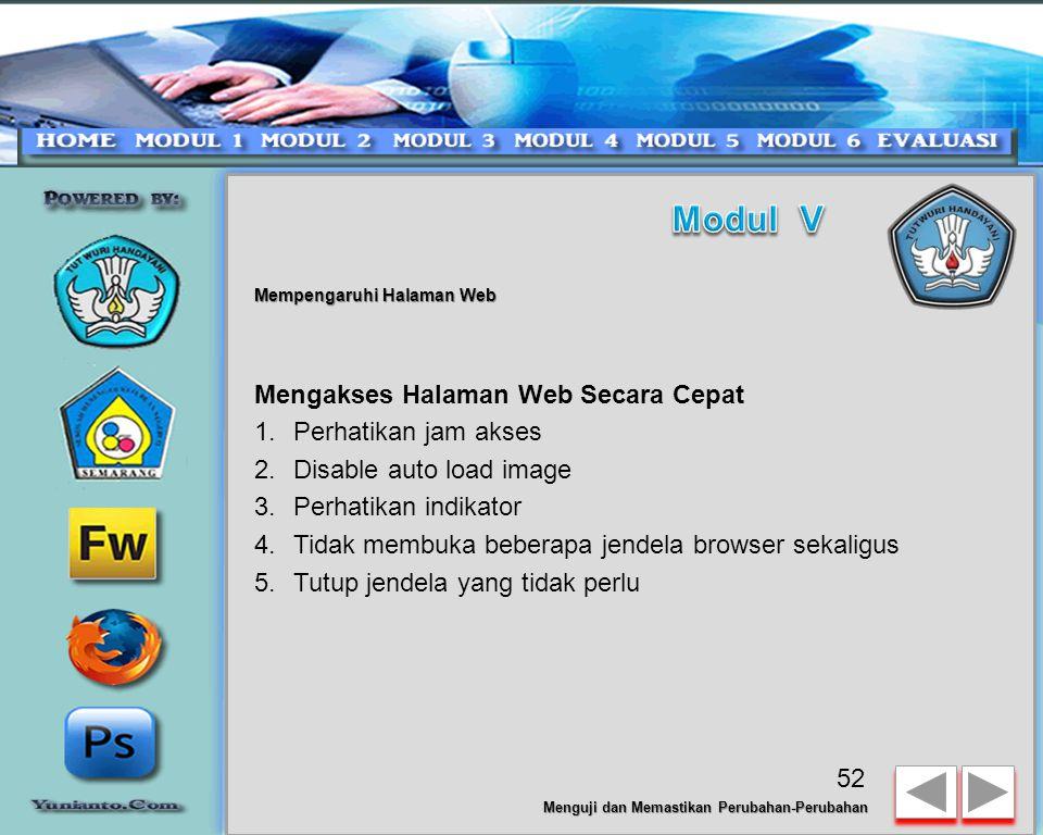 Modul V Mengakses Halaman Web Secara Cepat Perhatikan jam akses