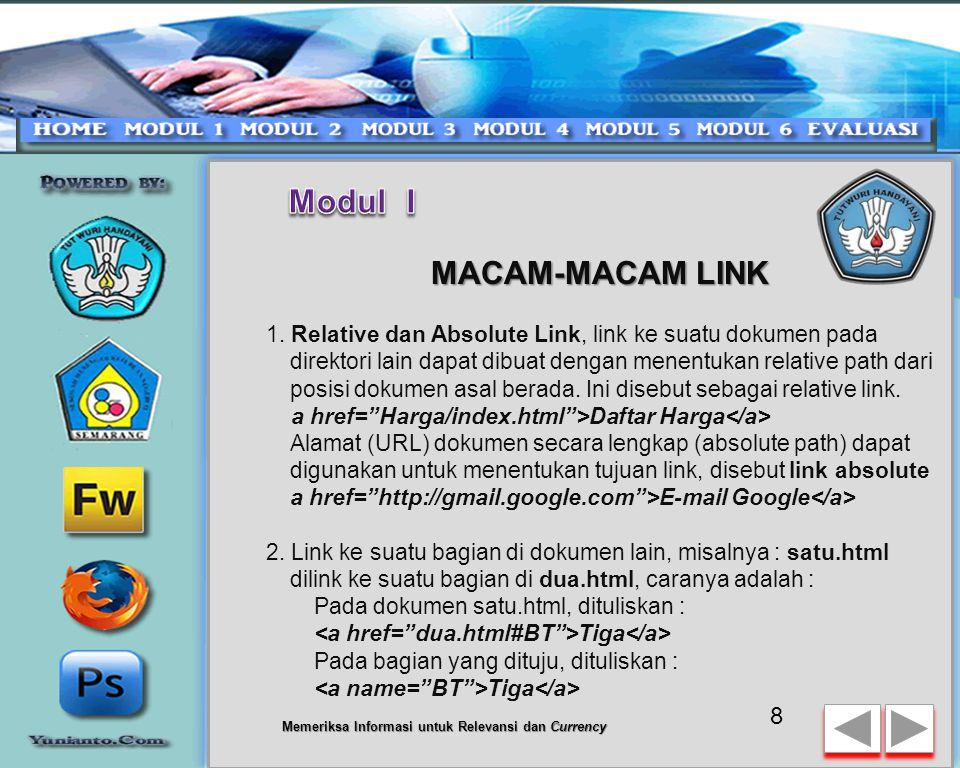 Modul I MACAM-MACAM LINK