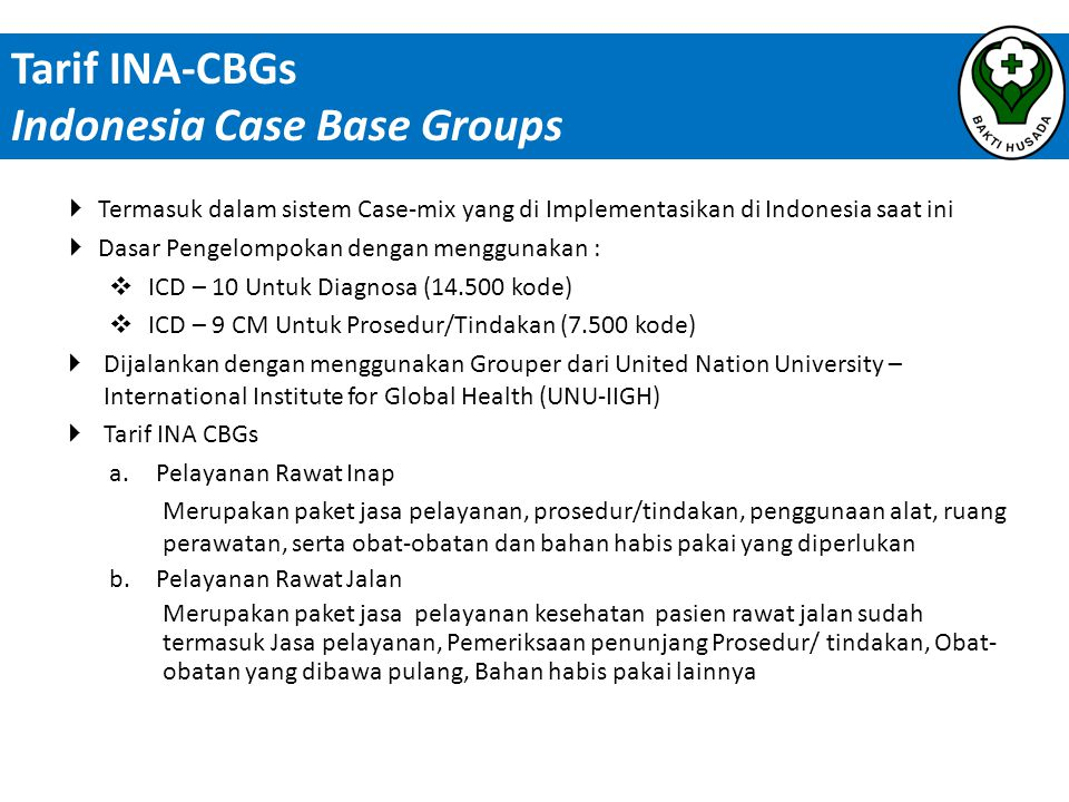 Indonesia Case Base Groups