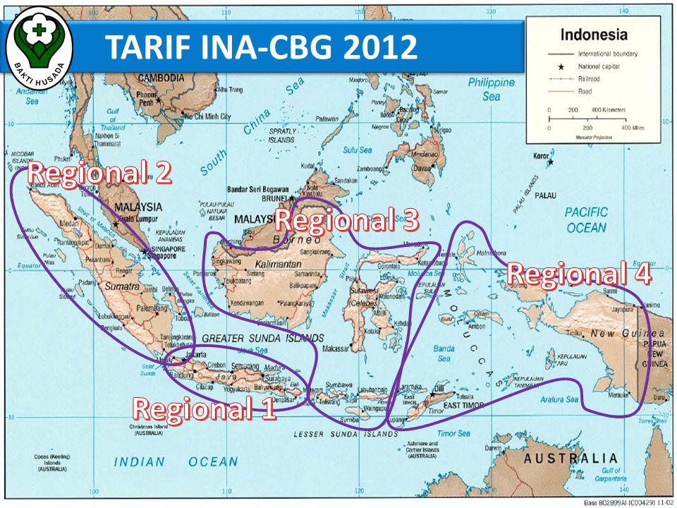 TARIF INA-CBG 2012 Regional 2 Regional 3 Regional 4 Regional 1