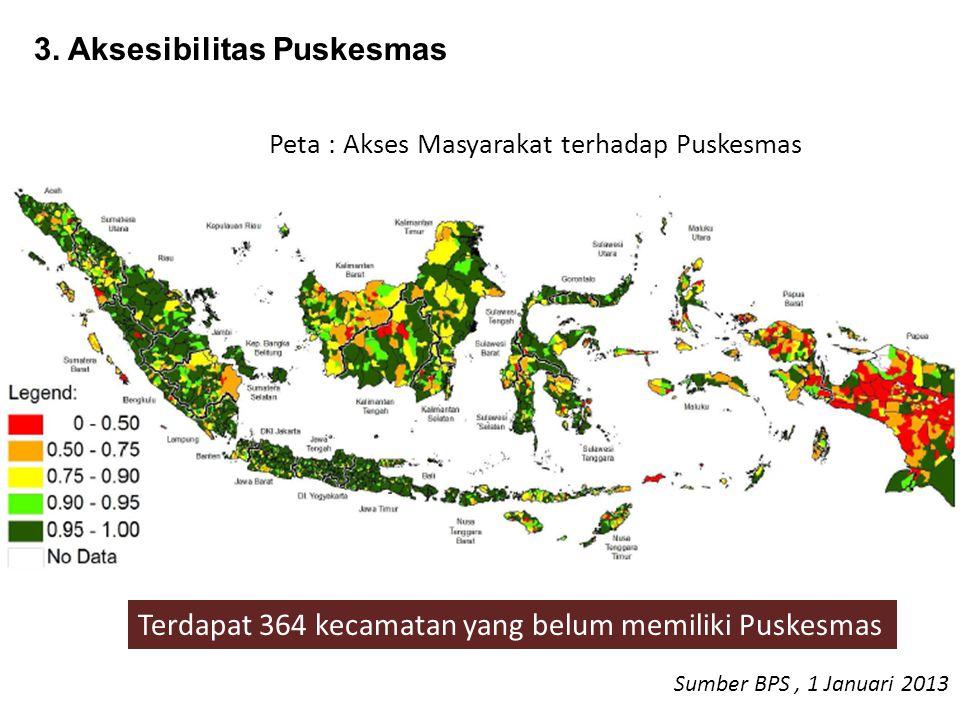 Peta : Akses Masyarakat terhadap Puskesmas